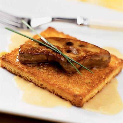 Seared Foie Gras with Ginger Cream Recipe