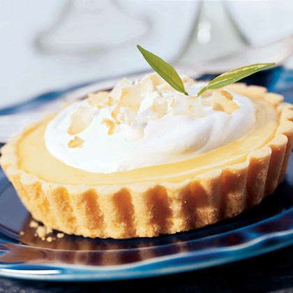 Lime Tarts with Coconut Cream