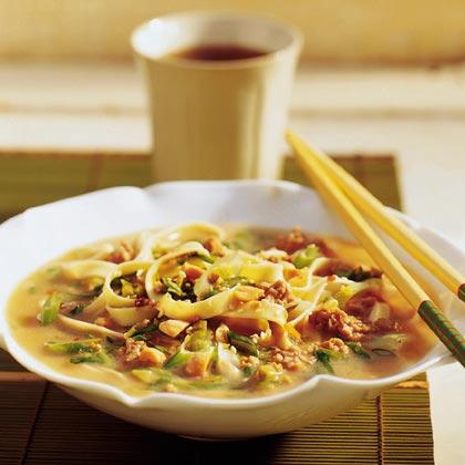 Green Onion Noodle Soup