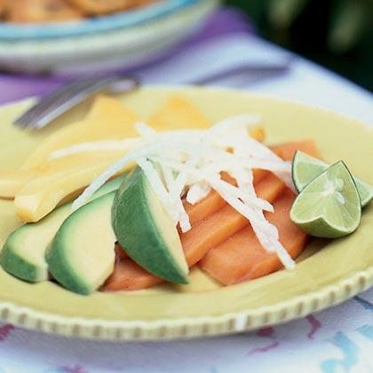 Papaya and Avocado Salad with Sour Orange Dressing