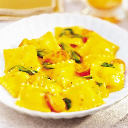 Ravioli with Split Pea Sauce