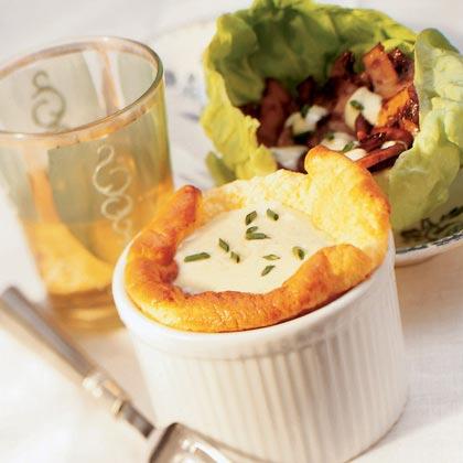 Polenta Soufflé and Salad