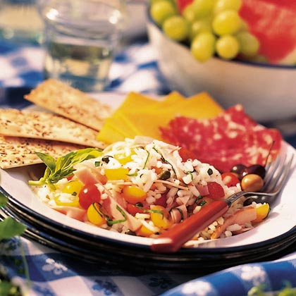 Rice Salad with Ham and Tomatoes