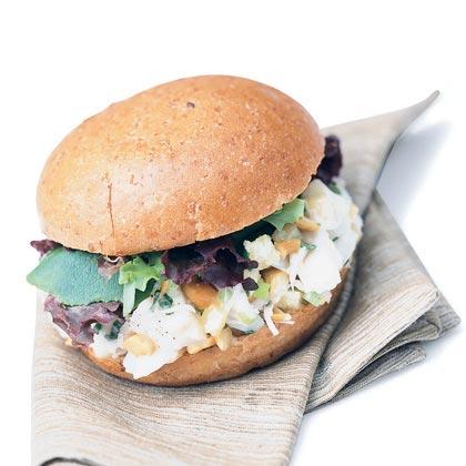 Halibut Salad Sandwiches