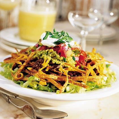 Taco Salad with Tortilla WhiskersRecipe