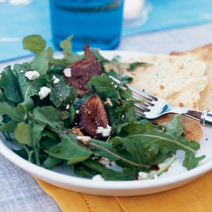 Roasted Fig and Arugula Salad