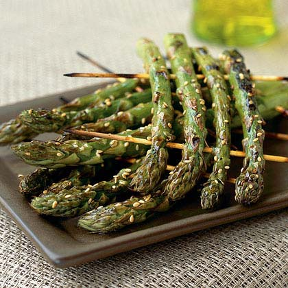 Grilled Asparagus Rafts Recipe