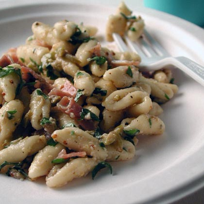 Prosciutto and Picholine Pasta Salad