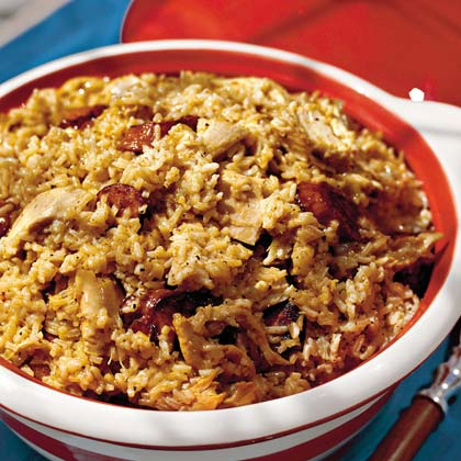 chicken and smoked sausage pilau recipe myrecipes