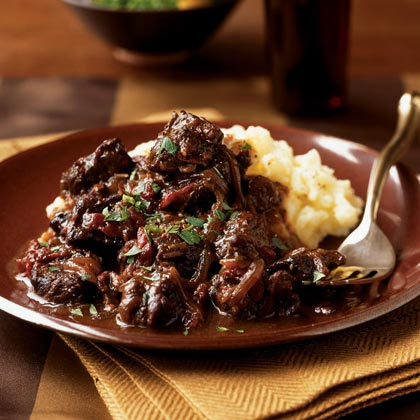 Braised Beef with Sun-Dried Tomatoes Recipe | MyRecipes
