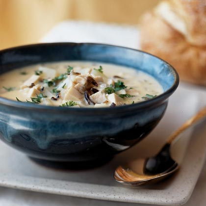 Healthy creamy chicken and wild rice soup recipe