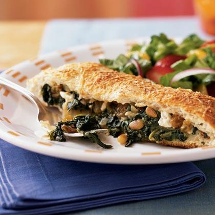 Spinach and Feta-Stuffed Focaccia