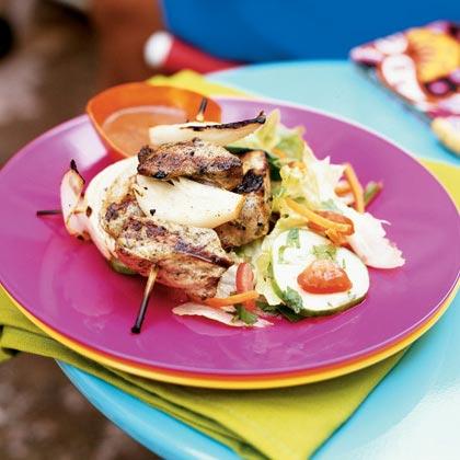 Pinchos de Cerdo con Salsa de Guayaba (Pork Skewers with Guava Sauce)