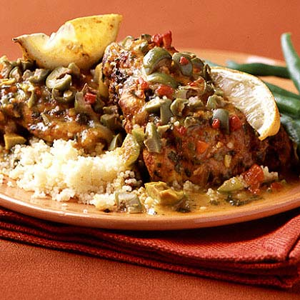 Chicken with Olives and Lemon Recipe