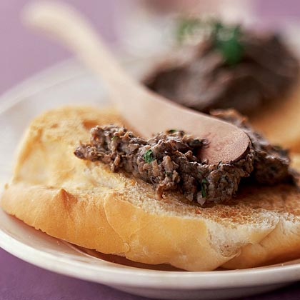 Mushroom Duxelles on Bruschetta Recipe