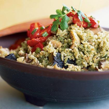 Cilantro Rice with Chicken