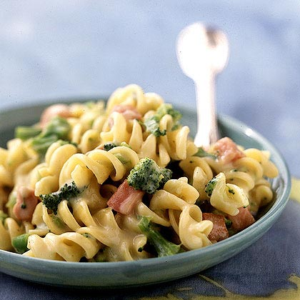 Rotini and Cheese with Broccoli and Ham Recipe | MyRecipes.com