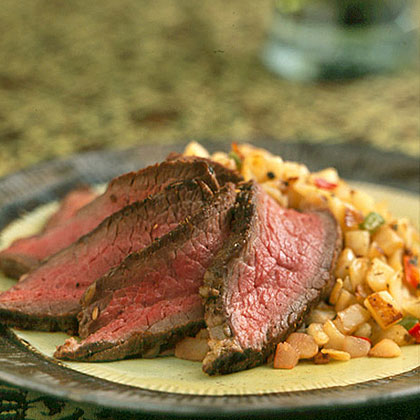 Italian-Style Hash Browns and SteakRecipe