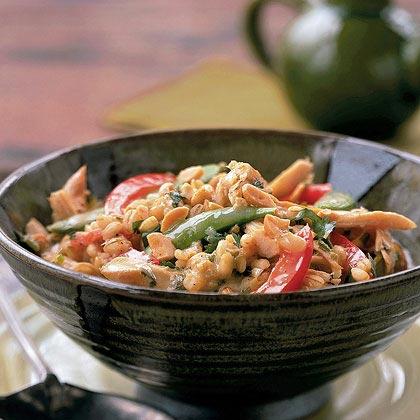 Thai Chicken Barley Risotto