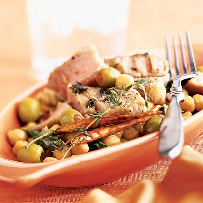Tuna Confit with Warm Bean Salad