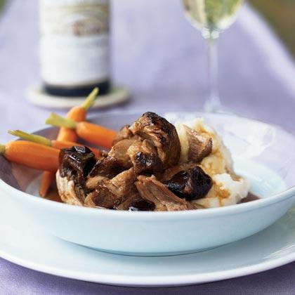 Braised Pork Shoulder in Hoisin-Wine Sauce with Dried PlumsRecipe