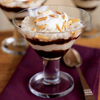 Rice Pudding with Port and Dried Plum Sauce
