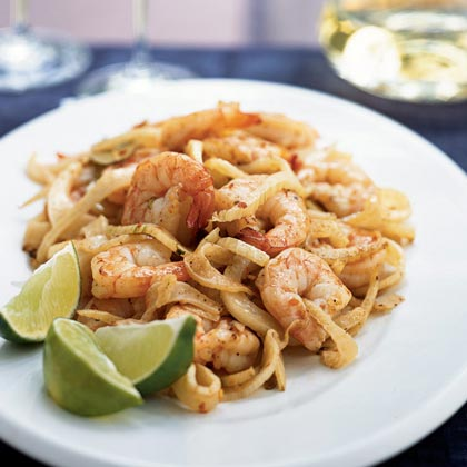 Shrimp and Fennel in Hot Garlic Sauce