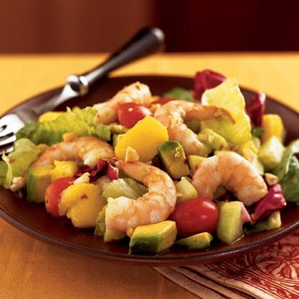 Tropical Chopped Salad with Shrimp