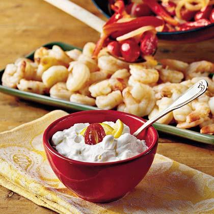 Shrimp With Yogurt-Cucumber SauceRecipe