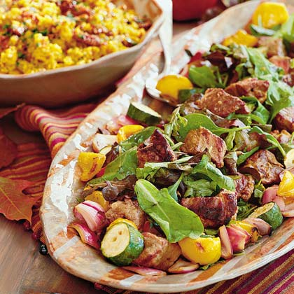 Steak-and-Vegetable Kebabs Recipe