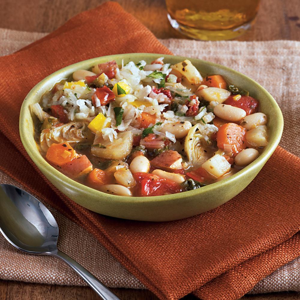 White Bean, Artichoke, and Chard Ragout