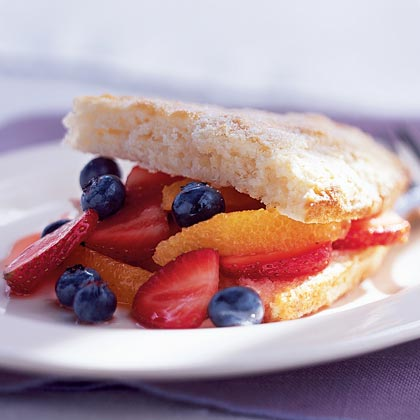 Triple-Fruit ShortcakesRecipe