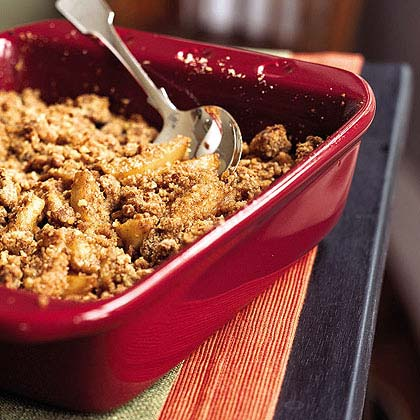 Brandied Caramel-Apple Crumble
