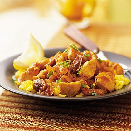 Saffron Chicken and Rice with Dates Recipe