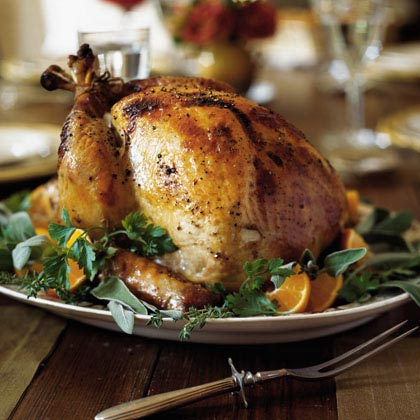 Apple Cider-Brined Turkey with Savory Herb GravyRecipe