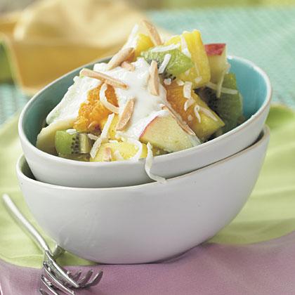 Fruit Salad with Honey-Yogurt Sauce