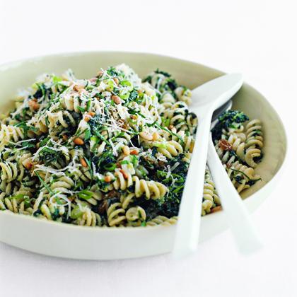 Fusilli with Spinach, Ricotta, and Golden RaisinsRecipe