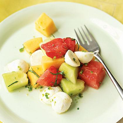 Three-Melon Mozzarrella Salad