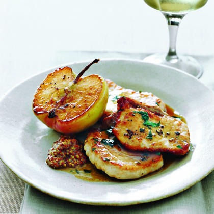 Pork Chops With Granny Smith Apples Recipe Myrecipes Com