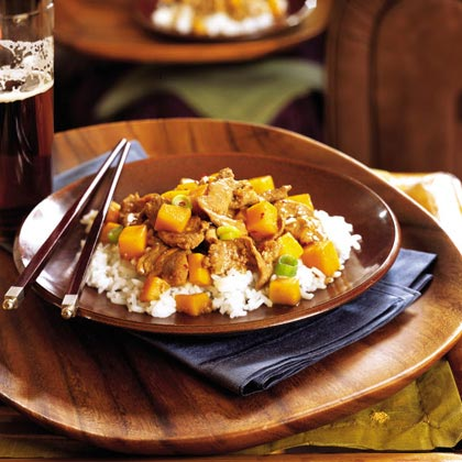 Pork and Squash Stir-Fry RecipeAdd cubed butternut squash to a classic stir-fry. It's easy, quick, and impressive enough to serve guests.