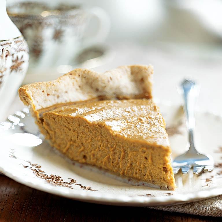 Thanksgiving Desserts Pecan Pie Pumpkin Pie More: Pumpkin Pie With Pecan Pastry Crust Recipe