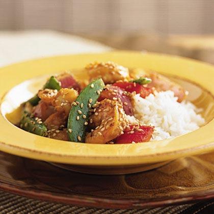 Shrimp and Snow Pea Stir-Fry Recipe