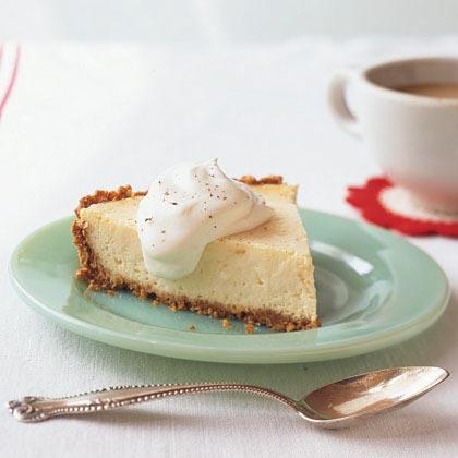 Eggnog Cheese Pie with Bourbon Cream