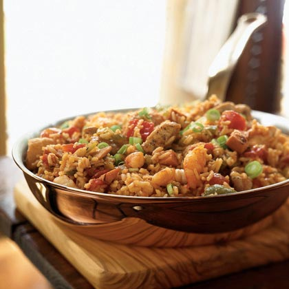 """""""This recipe is fabulous! I have made this multiple times and my family and guests always love it (and ask for the recipe!). I usually follow the recipe as is but sometimes add more chicken or shrimp. Highly recommended!"""" —fullmoon6Jambalaya Recipe"""