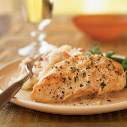 Chicken with Sherry Vinegar Sauce Recipe | MyRecipes