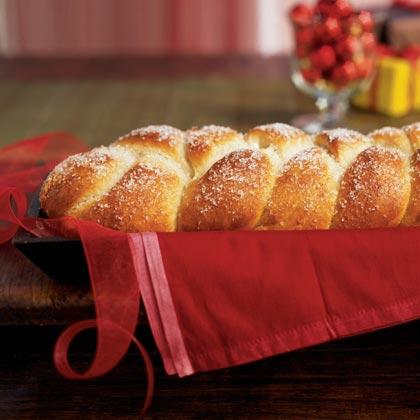 Sugar-Frosted Cardamom Braid