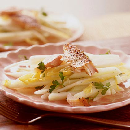 Endive-Apple Slaw with Smoked Trout Recipe
