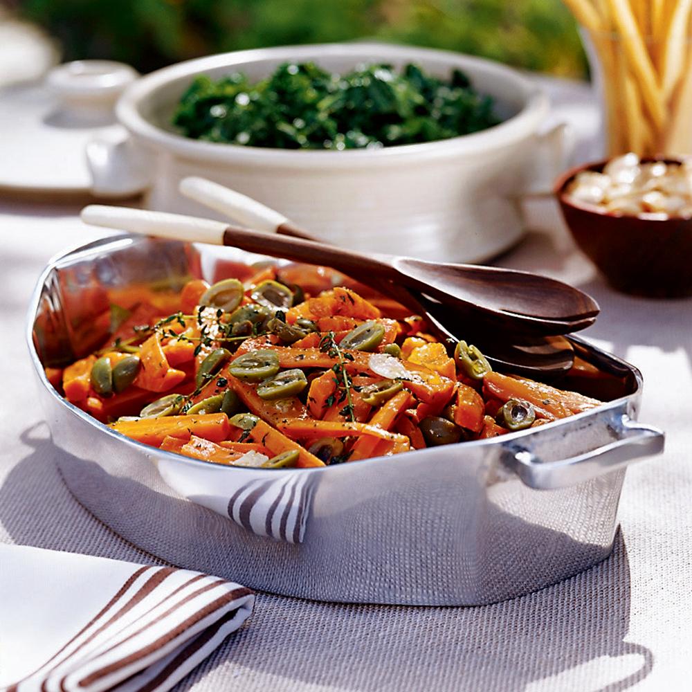Glazed Carrots with Green OlivesRecipe
