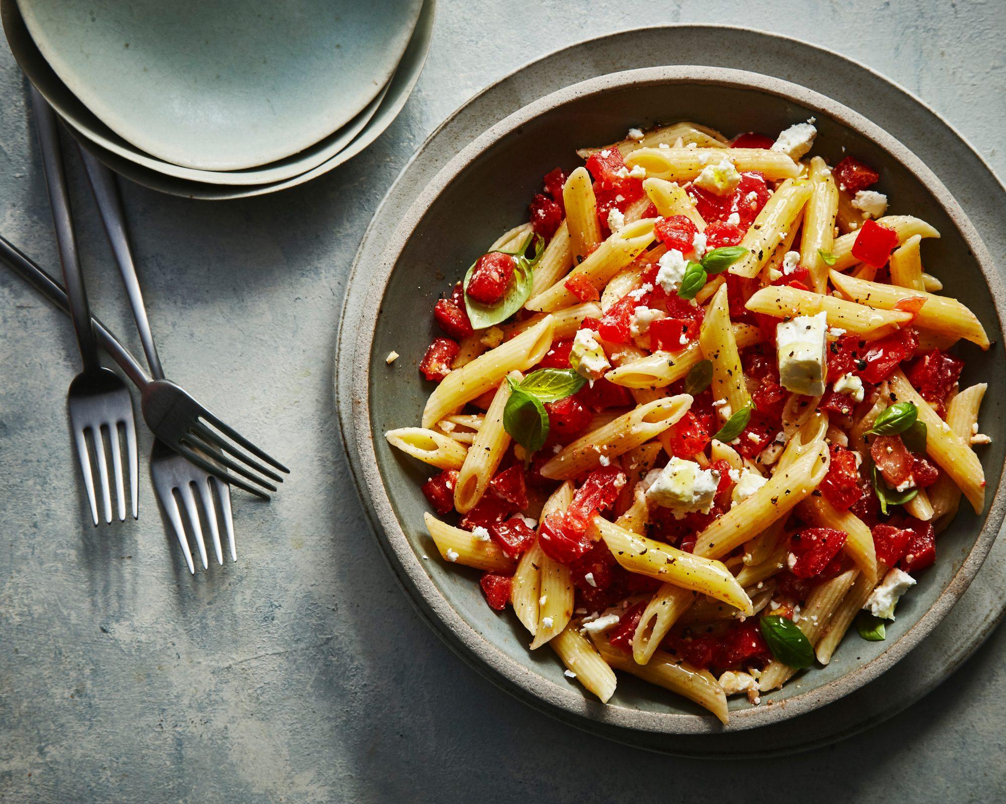 Tomaatti Feta Pasta