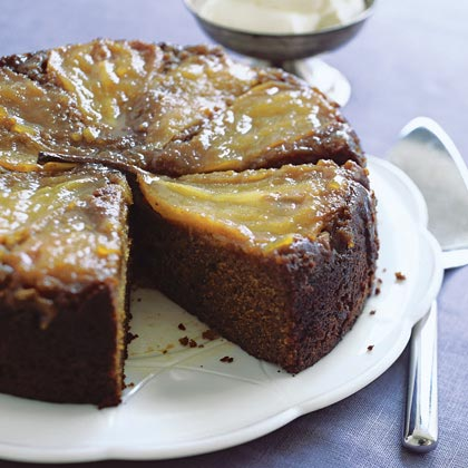 Pear and Ginger Upside-Down CakeRecipe